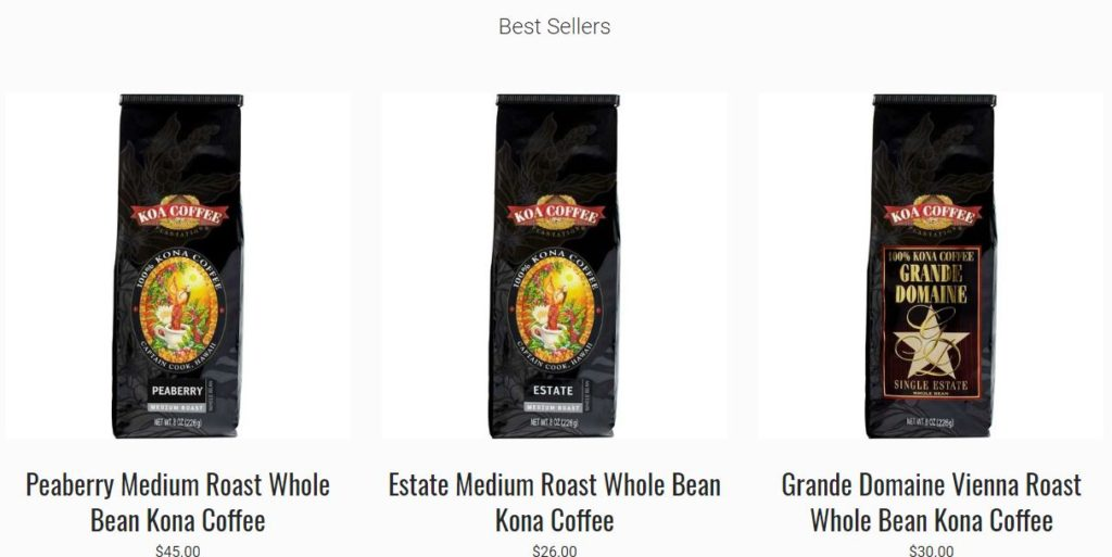Koa Coffee Sale